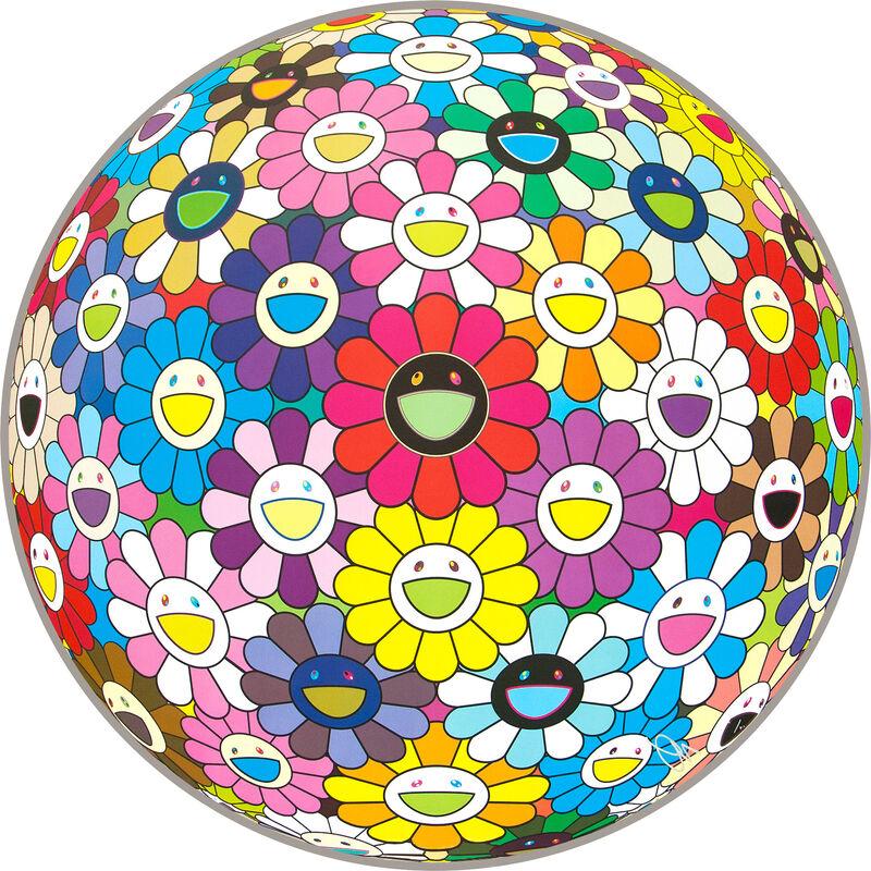 Takashi Murakami, 'Flower Ball (Multicolor)', 2016, Print, Offset Lithograph, Pinto Gallery