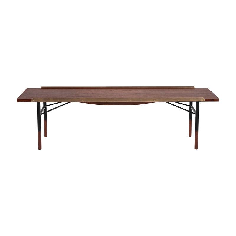 Finn Juhl, 'Coffee table/bench, model BO101', 1953, Design/Decorative Art, Teak, brass and gunmetal, Dansk Møbelkunst Gallery
