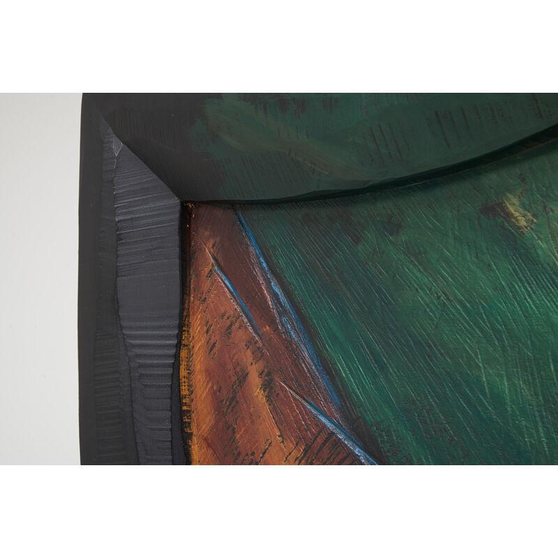 Wendell Castle, 'Jack And The Beanstalk Desk, Scottsville, NY', 1993, Design/Decorative Art, Polychromed, jelutong, maple and mahogany veneer, oak, mahogany, Rago/Wright
