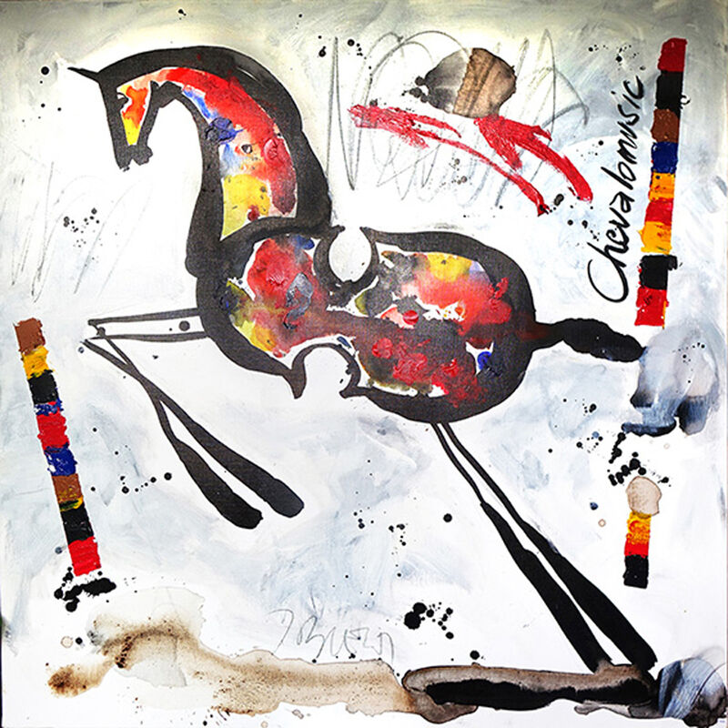 Jacques Blézot, 'Chevalomusic', 2016, Painting, Acrylic and ink on canvas, Galry