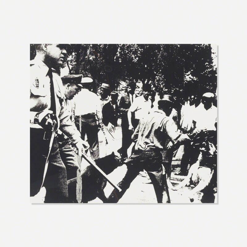 Andy Warhol, 'Birmingham Race Riot (from the Ten Works X Ten Painters portfolio)', 1964, Print, Screenprint on paper, Rago/Wright/LAMA
