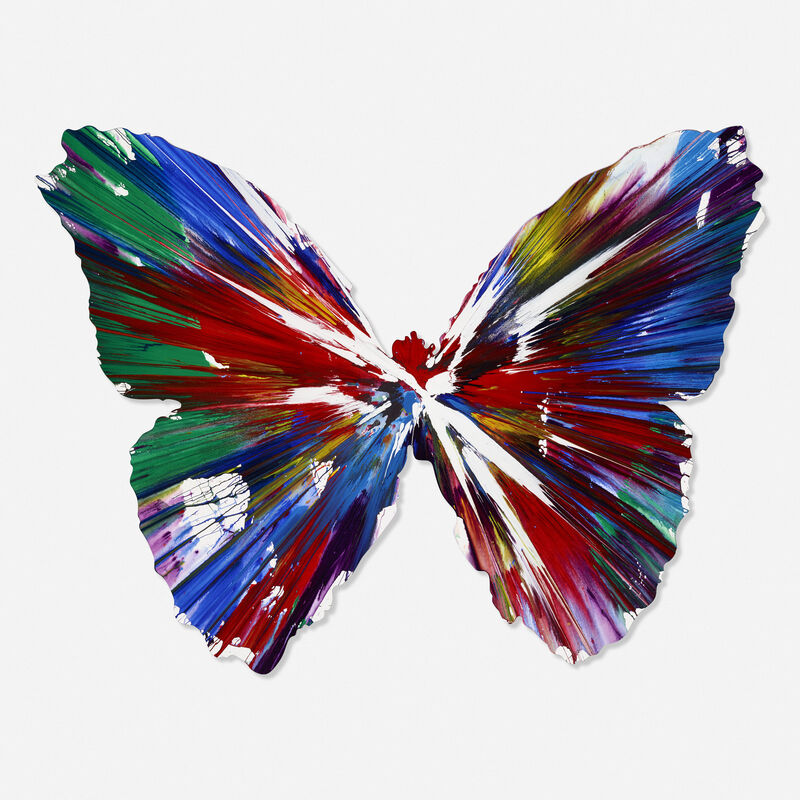 Damien Hirst, 'Signed Butterfly Spin Painting', 2009, Painting, Acrylic on paper, Rago/Wright/LAMA