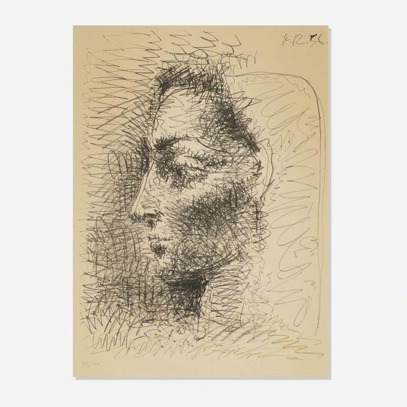 Pablo Picasso, 'Portrait de Jacqueline', 1956, Print, Lithograph on Arches paper, Rago/Wright