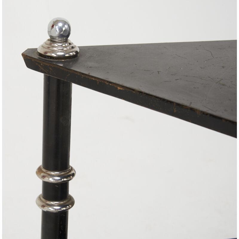 Warren McArthur, 'Triangular Tiered Side Table, USA', ca. 1928, Design/Decorative Art, Lacquered Wood, Aluminum, Rago/Wright