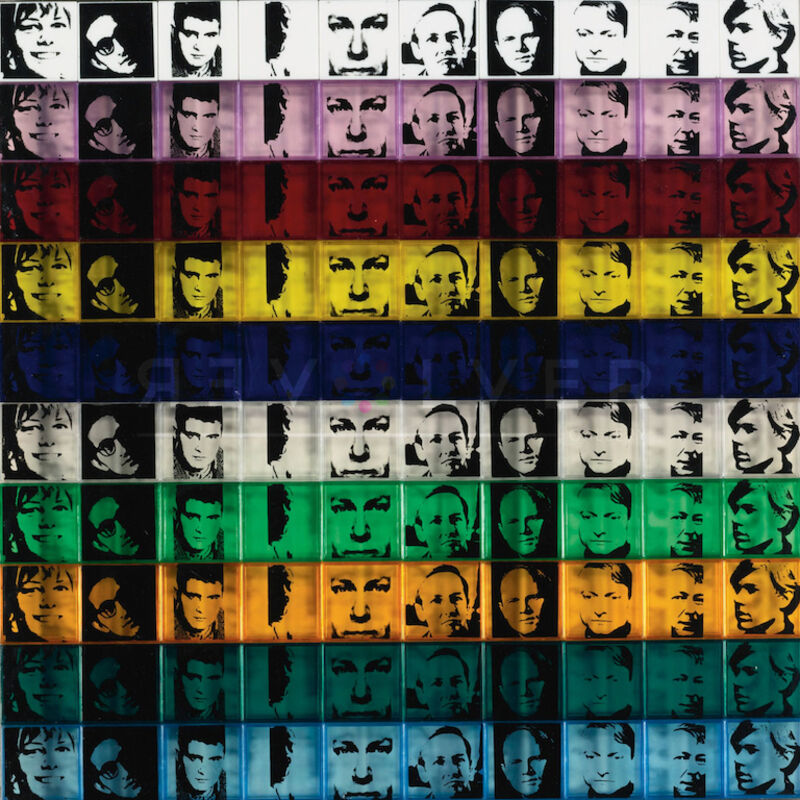 Andy Warhol, 'Portraits of the Artists (FS II.17)', 1967, Print, Screenprint on 100 colored polystyrene boxes in ten colors., Revolver Gallery