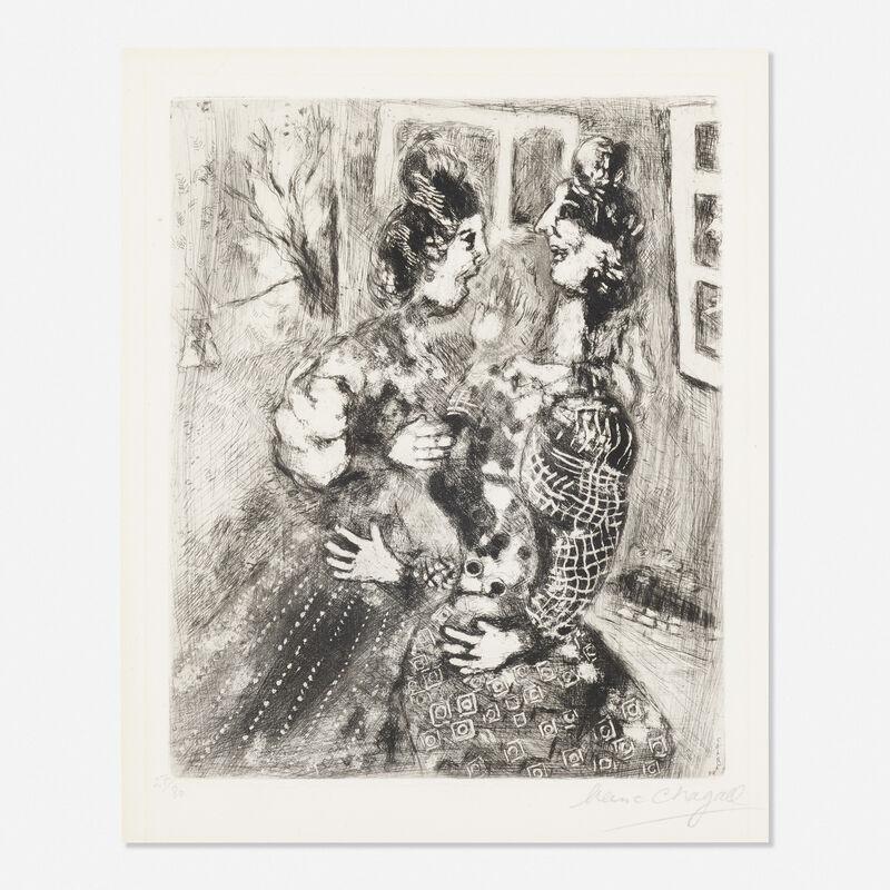 Marc Chagall, 'Les Femmes et le Secret from Les Fables de la Fontaine', Print, Etching, Rago/Wright