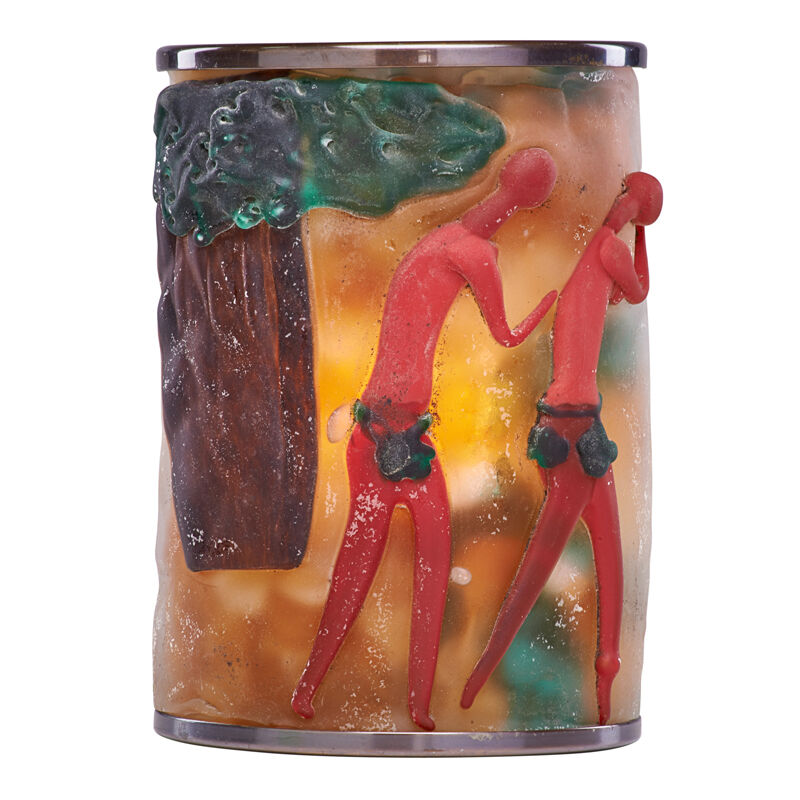 Cenedese & Co., 'Adam and Eve Sconce, Murano, Italy', 1950s, Design/Decorative Art, Scavo Glass, Patinated Brass, Single Socket, Rago/Wright