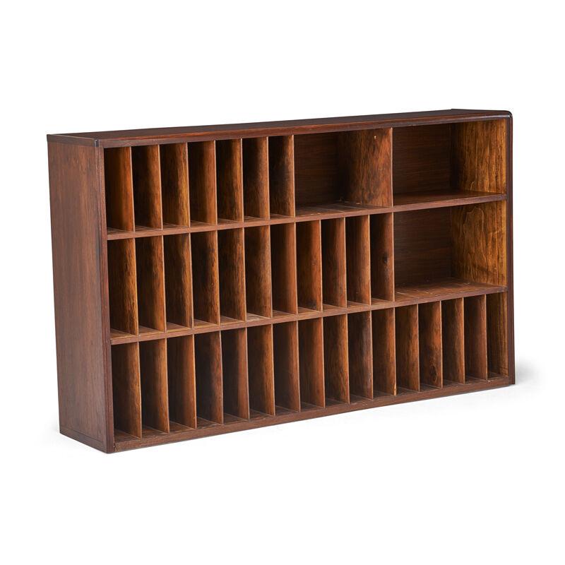Wharton Esherick, 'Cabinet, Paoli, PA', 1950s, Design/Decorative Art, Walnut, Stained Plywood, Rago/Wright