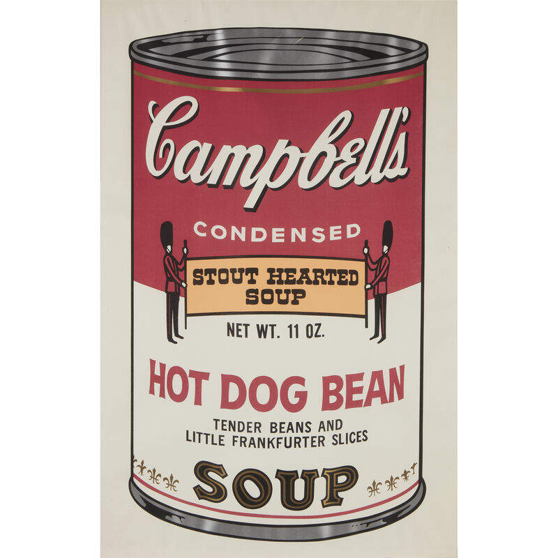 Andy Warhol, 'Hot Dog Bean from Campbell's Soup II', 1969, Print, Color screenprint on wove paper, Freeman's