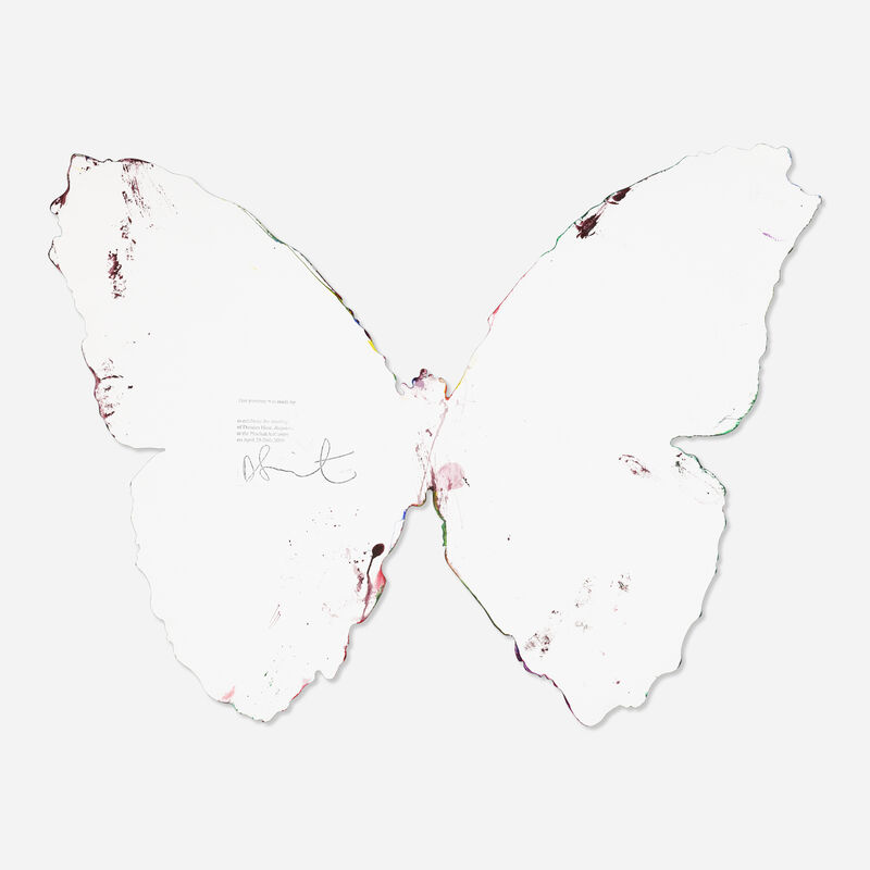 Damien Hirst, 'Butterfly spin', 2009, Painting, Acrylic on paper, Rago/Wright