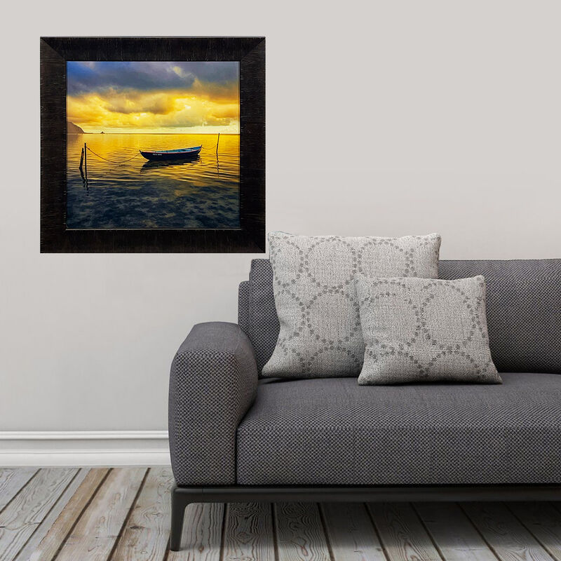 Peter Lik, ''Oahu Sunset'', 2015, Photography, Acrylic print on Fujiflex Crystal Archive Media. Each image is then protected between 2 layers of Crystal Clear acrylic. Custom framed in heavy museum glass in 3in. wide textured dark wood frame molding., Signari Gallery