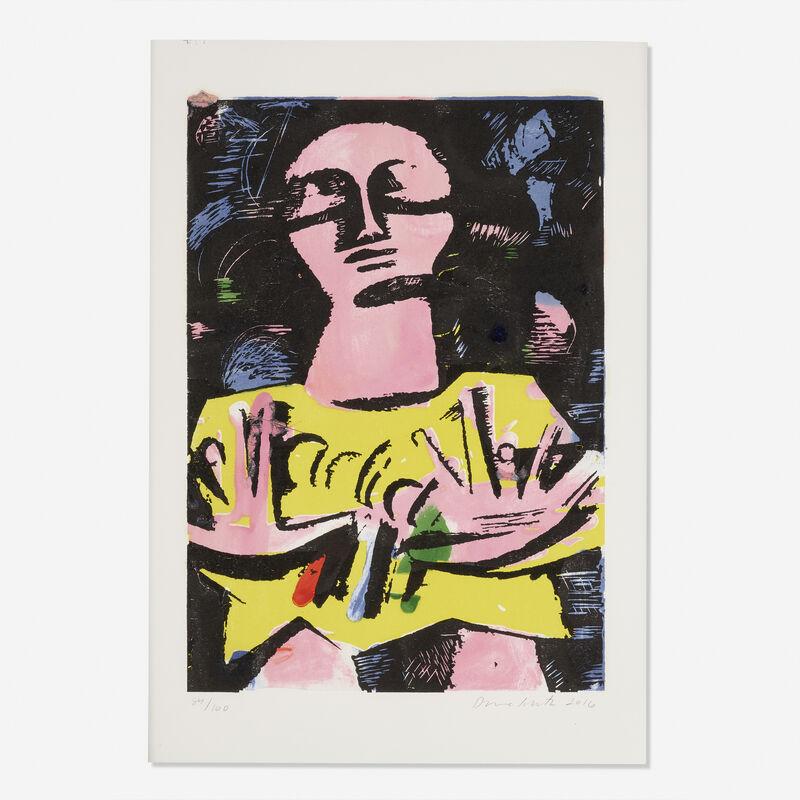 Dana Schutz, 'Sleepwalker', 2016, Print, Woodcut and monotype in colors, Rago/Wright/LAMA