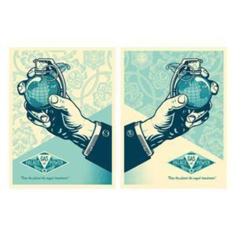 Shepard Fairey, 'Royal Treatment (Money & Skullset)', Print, Screen print on cream speckle tone paper, Reem Gallery