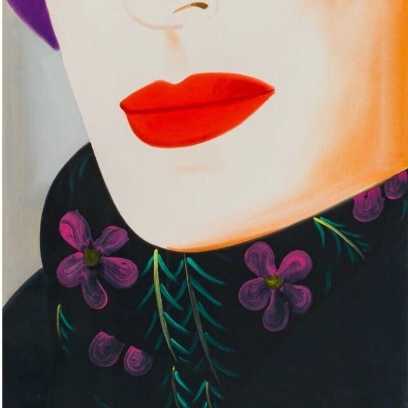 Alex Katz, 'Purple Hat (Ada)', 2017, Print, Archival pigment  Inks on Crane Museo Max 365 gsm fine art paper, Weng Contemporary