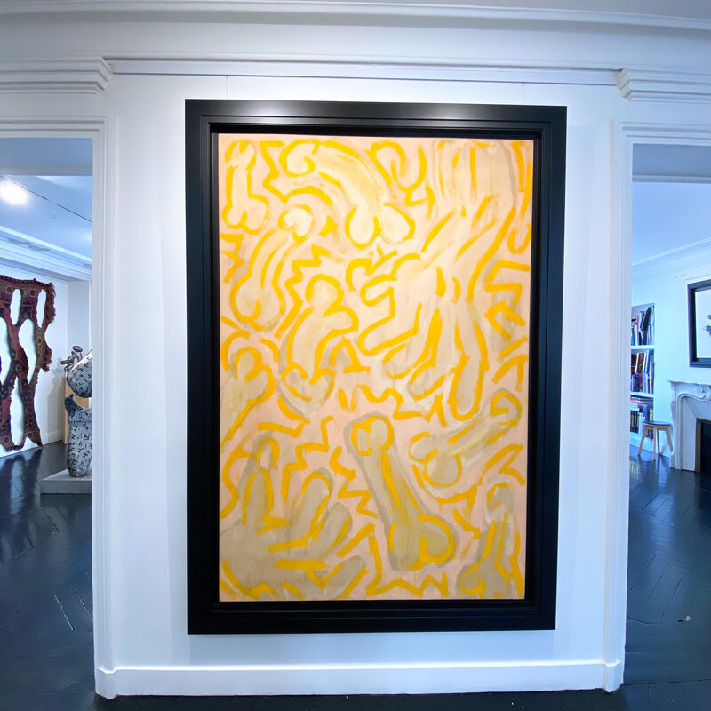 Keith Haring, 'Lily Overstreet (Male)', 1986, Painting, Acrylic and spray paint on canvas, We Art Partners