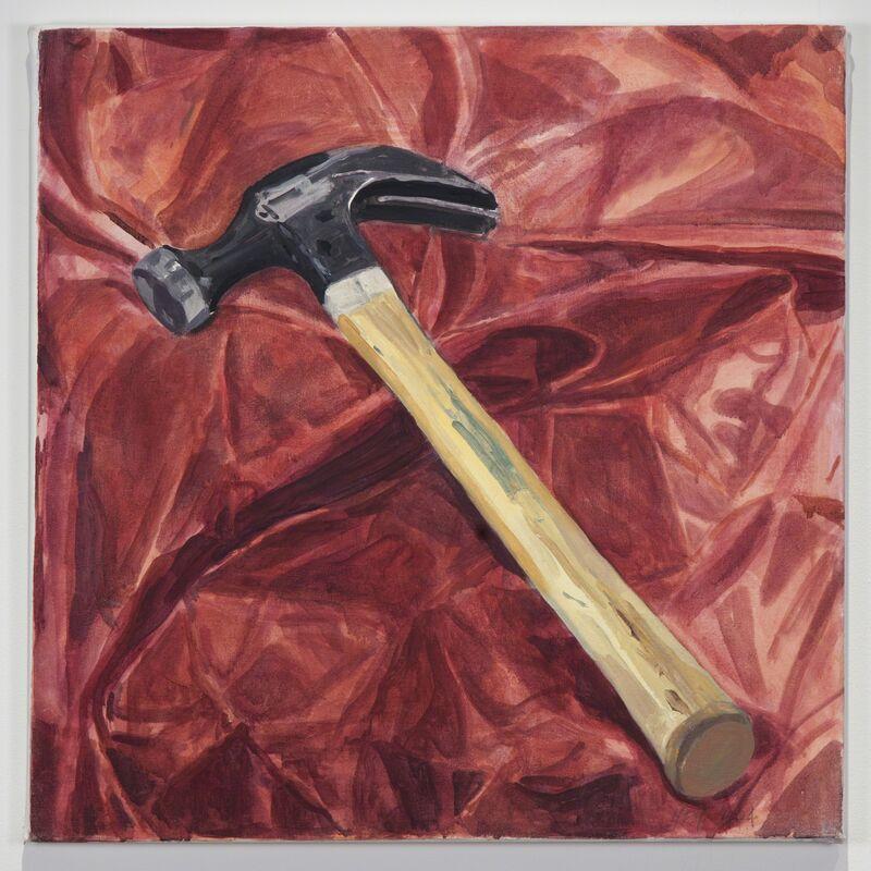 Margaret Harrison, 'Beautiful Ugly Violence (Hammer)', 2003, Painting, Acrylic on canvas, Ronald Feldman Gallery