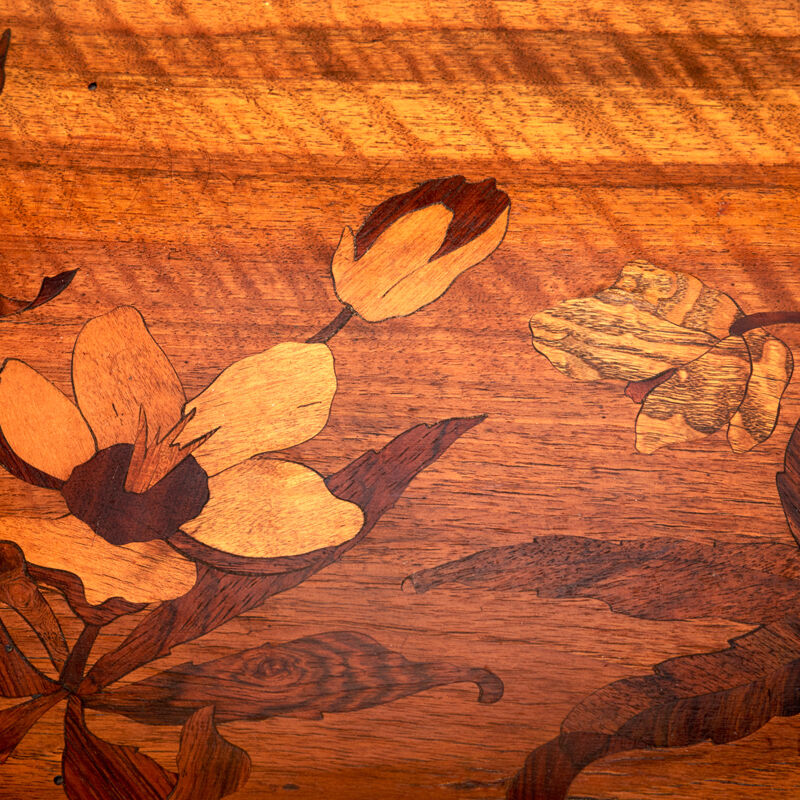 Paul Guth, 'Tiered Table With Flowers And Wooded Landscape, France', ca. 1900, Design/Decorative Art, Stained Beech, Rosewood, Mixed Wood Marquetry, Rago/Wright/LAMA