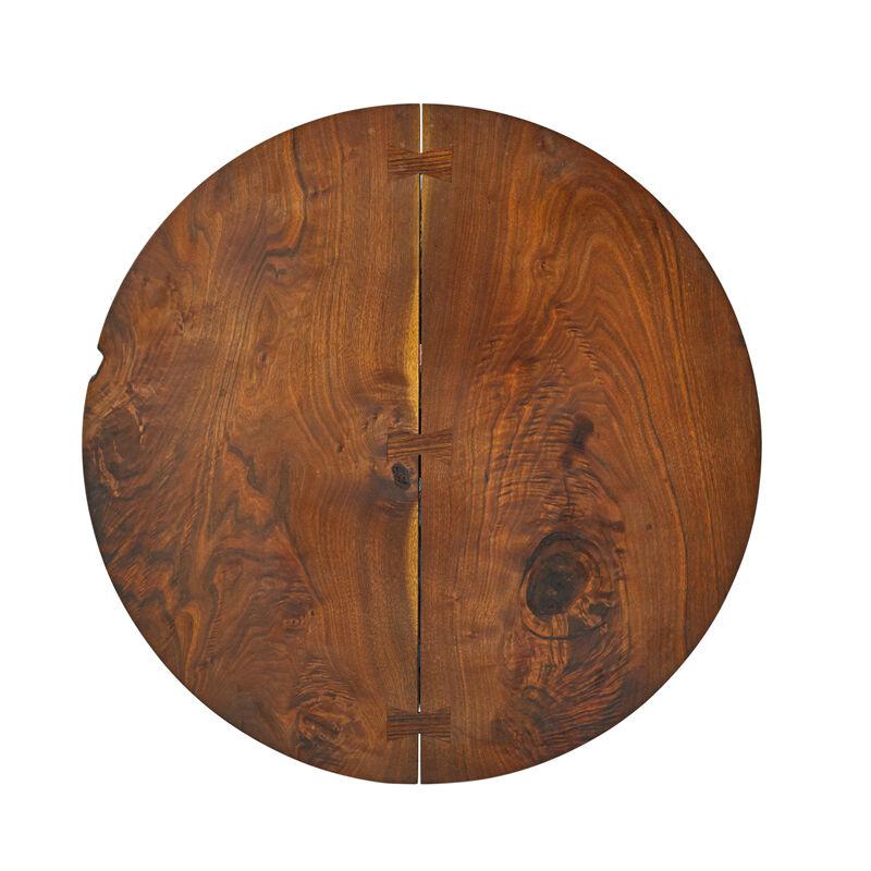 George Nakashima, 'Pedestal Occasional Table, New Hope, PA', 1964, Design/Decorative Art, Figured Walnut, Rosewood, Rago/Wright/LAMA