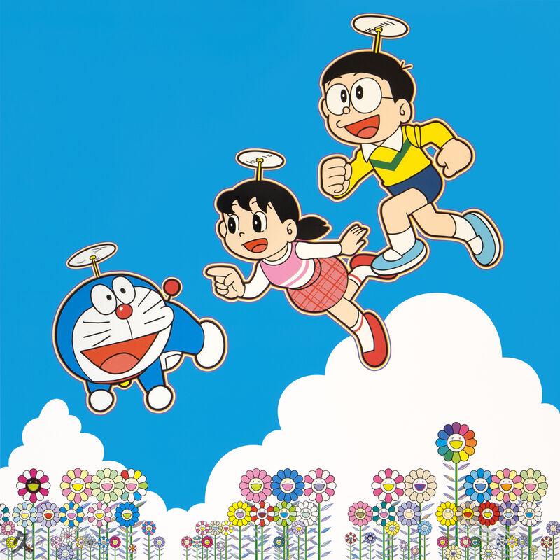 Takashi Murakami, 'Doraemon: A Blue Sky! Like We Could Go On Forever!', 2020, Print, Offset Lithograph, Kumi Contemporary / Verso Contemporary