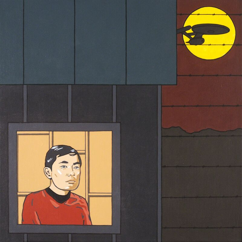 Roger Shimomura, 'Great American Muse #49', 2015, Painting, Acrylic on canvas, Greg Kucera Gallery