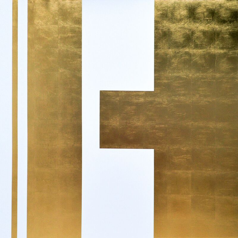 José Ángel Vincench, ' Plebiscite', 2018, Painting, Gold and acrylic leaves on canvas, NG Art Gallery