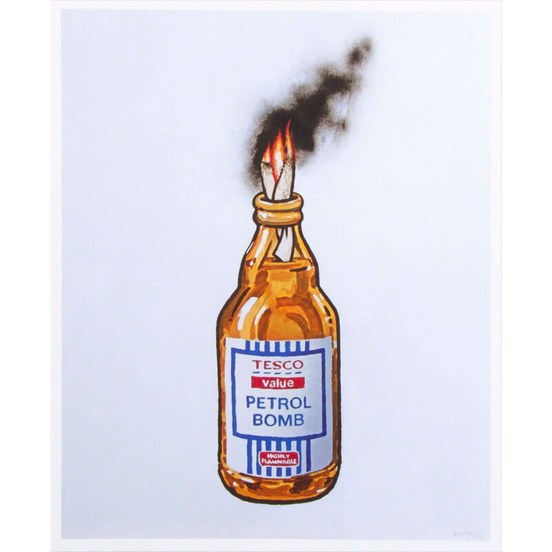 Banksy, 'Tesco Petrol Bomb ', 2011, Print, Offset lithograph on paper, The Drang Gallery