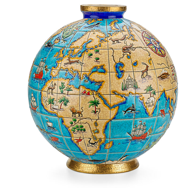 "Maurice-Paul Chevallier, 'Longwy, Large Vase, ""Atlas"", France', 1930s, Design/Decorative Art, Glazed earthenware, Rago/Wright"