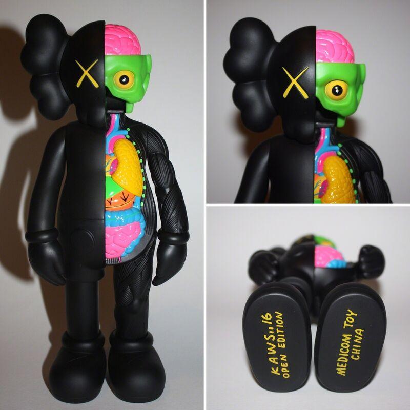 KAWS, 'Companion Black (Flayed)', 2016, Sculpture, Vinyl toy, Lougher Contemporary
