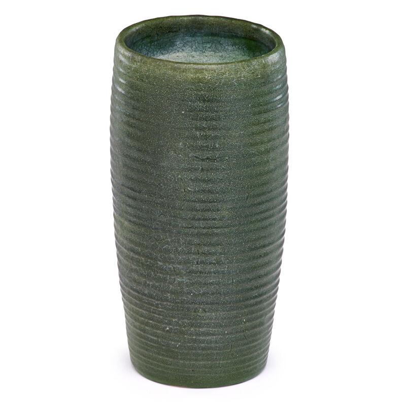 Grueby Faïence Company, 'Early Ribbed Vase, Boston, MA', ca. 1902, Design/Decorative Art, Rago/Wright
