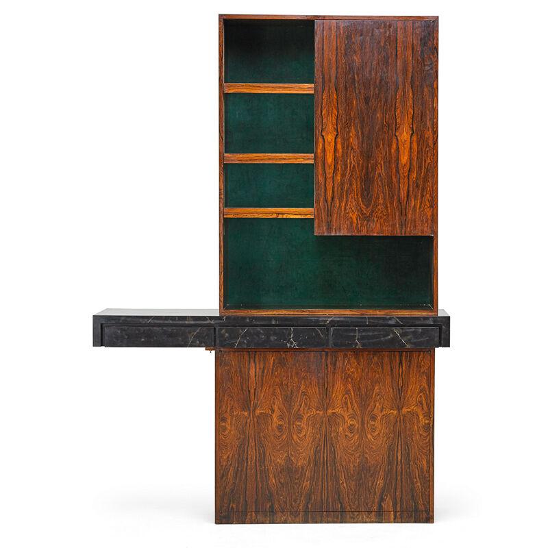 Vladimir Kagan, 'Illuminated Bar Cabinet, New York', 1970s, Design/Decorative Art, Rosewood, laminate, suede, acrylic, aluminum, mirrored glass, Rago/Wright