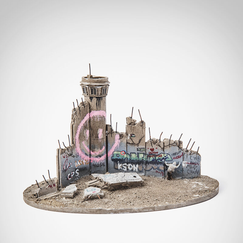 Banksy, 'Walled Off Hotel - Smiley Tower', Sculpture, Eight-part Souvenir Wall Section with Watch Tower, hand-painted resin sculpture, Tate Ward Auctions