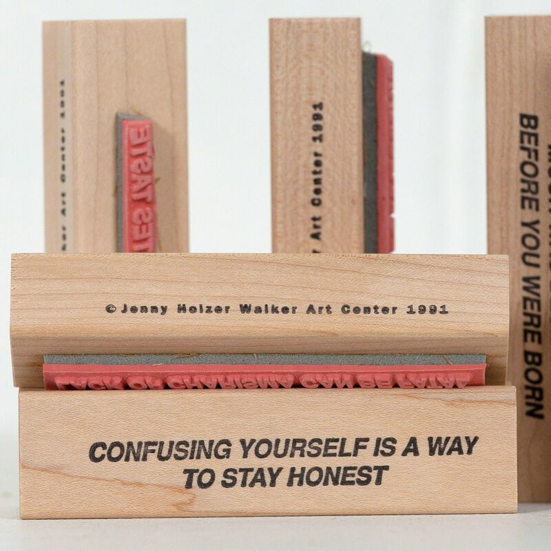 Jenny Holzer, 'Truisms Stamp Set', 1991, Mixed Media, Complete set including original box, six stamps and ink pad, Caviar20