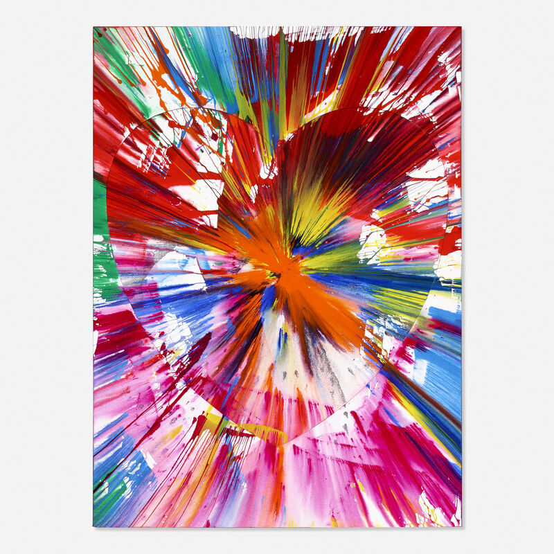Damien Hirst, 'Heart Spin Painting (two parts)', 2009, Painting, Acrylic on paper, Rago/Wright