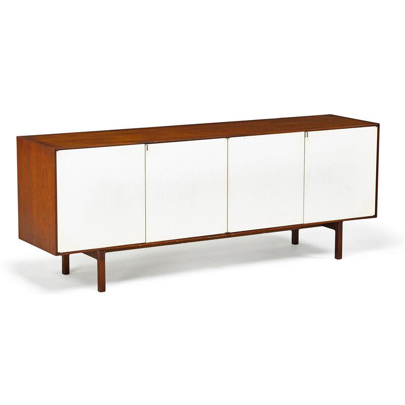 Florence Knoll, 'Cabinet (No. 541), New York', 1960s, Design/Decorative Art, Walnut, Enameled Wood, Birch, Chromed Steel, Rago/Wright