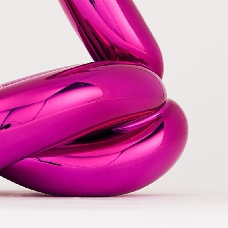 Jeff Koons, 'Balloon Swan ( Magenta )', 2019, Sculpture, French Limoges porcelain with chromatic coating, AbrahamArt