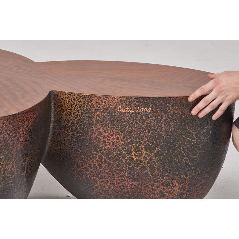 Wendell Castle, 'Bright Promises II Coffee Table, Scottsville, NY', 2000, Design/Decorative Art, Polychromed fiberglass, bubinga veneer, Rago/Wright