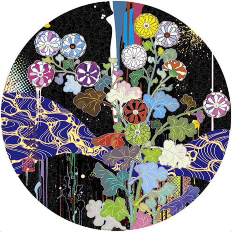 Takashi Murakami, 'Korin: Stellar River in the Heavens', 2015, Print, Offset lithograph with cold stamp and high gloss varnishing on paper, ARTETRAMA