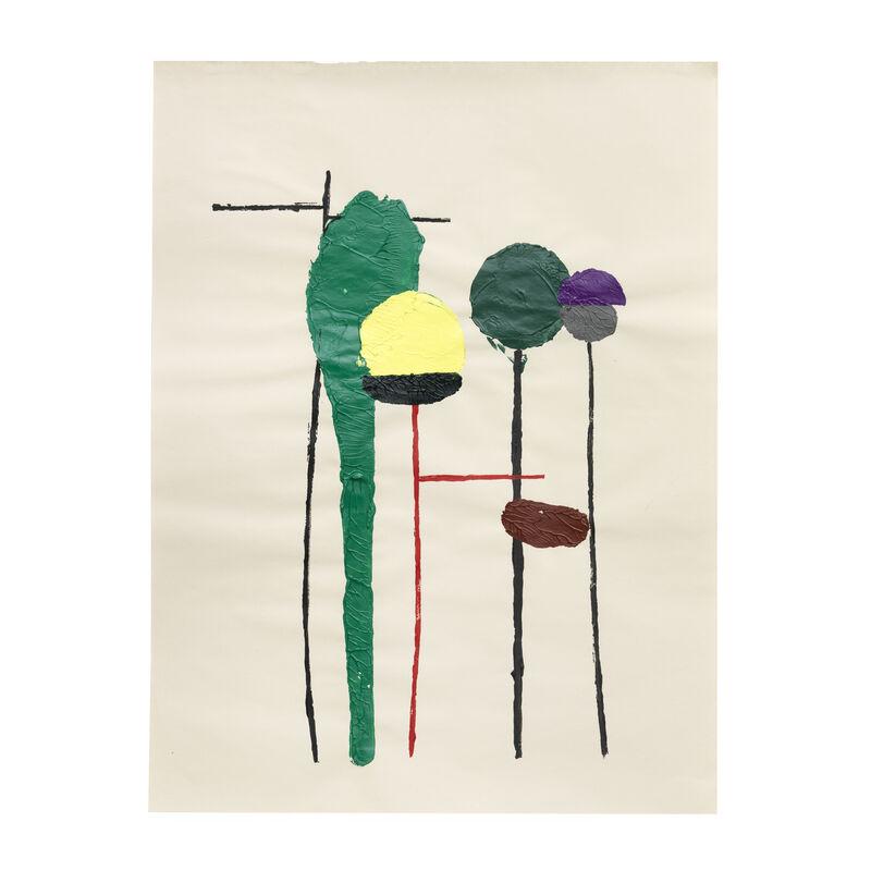 Georgie Hopton, 'Medium Size Veg Print (i)', 2009, Drawing, Collage or other Work on Paper, Acrylic on newsprint, Lyndsey Ingram