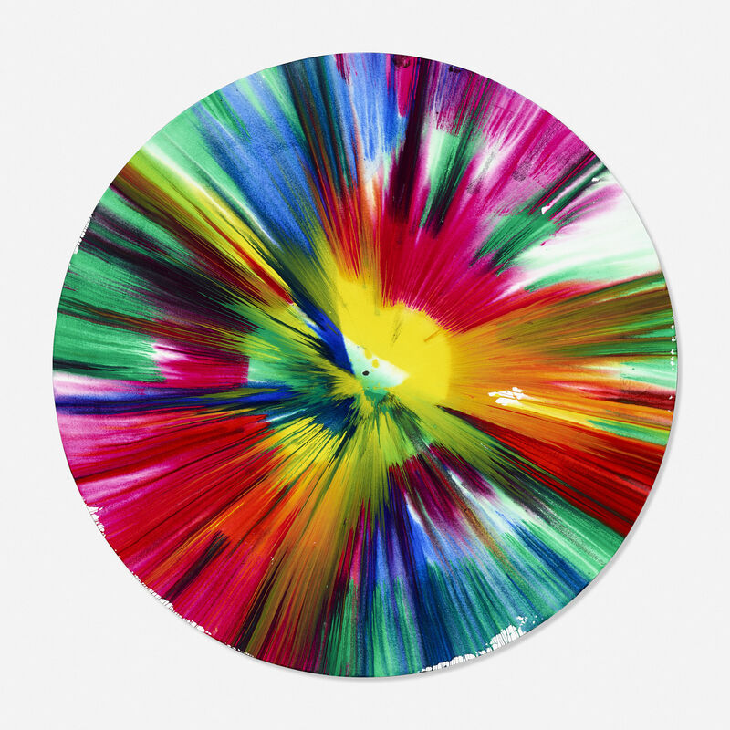 Damien Hirst, 'Circle Spin Painting', 2009, Painting, Acrylic on paper, Rago/Wright
