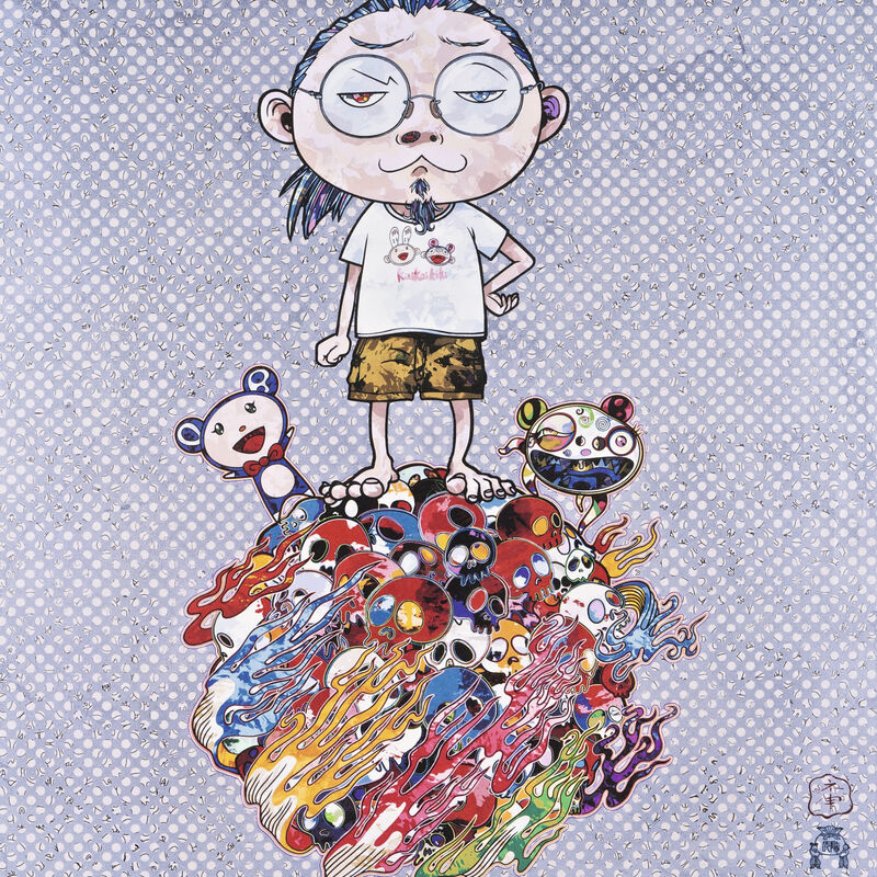 Takashi Murakami, 'Me and the Mr. DOBs ', 2013, Print, Offset print with silver, Pinto Gallery