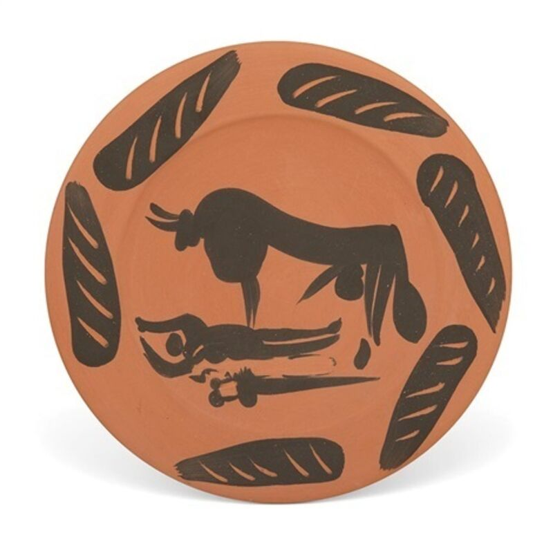 Pablo Picasso, 'Madoura Ceramic Plate- SCENE DE TAUROMACHIE, Ramié 393', 1959-1959, Sculpture, Ceramic, Earthenware, Hirth Fine Art