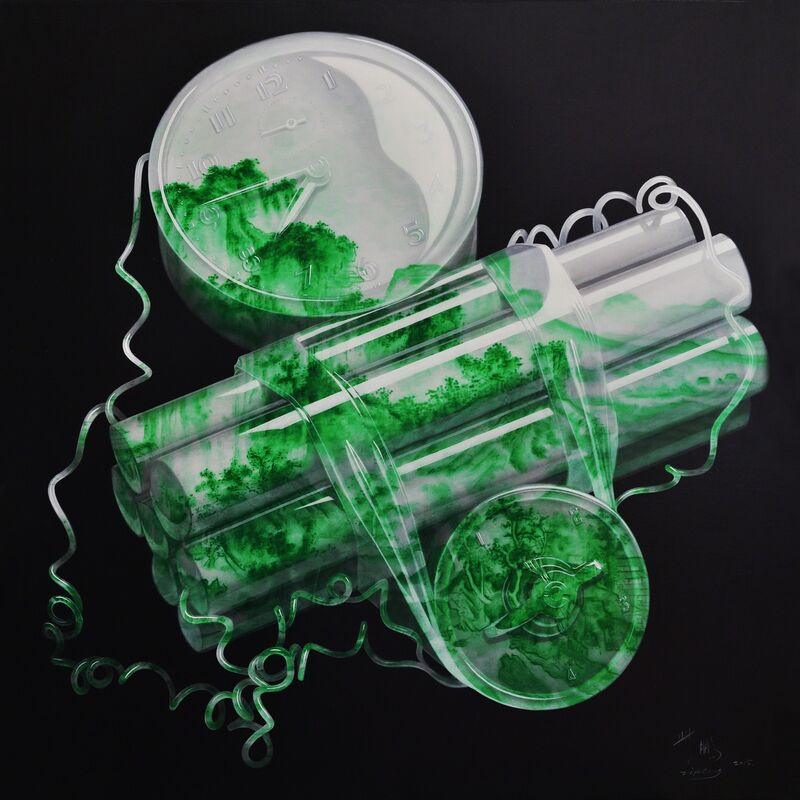 Peng Zi, 'Jade Bomb – Time Bomb', 2015, Painting, Oil on Canvas, Y2ARTS