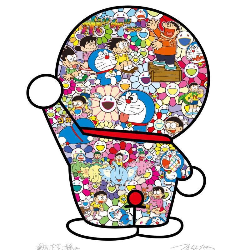 Takashi Murakami, 'Doraemon's daily life', 2020, Print, Offset print, with silver and high gloss varnishing, Pinto Gallery