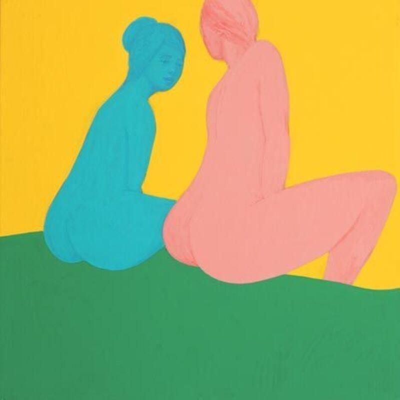Piero Passacantando, 'Bather #10', 2016, Painting, Acrylic on panel, Uprise Art