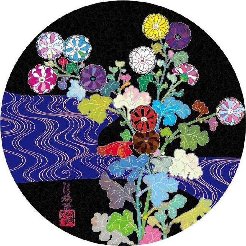 Takashi Murakami, 'Korin: Azure River', 2015, Print, Offset lithograph, Dope! Gallery