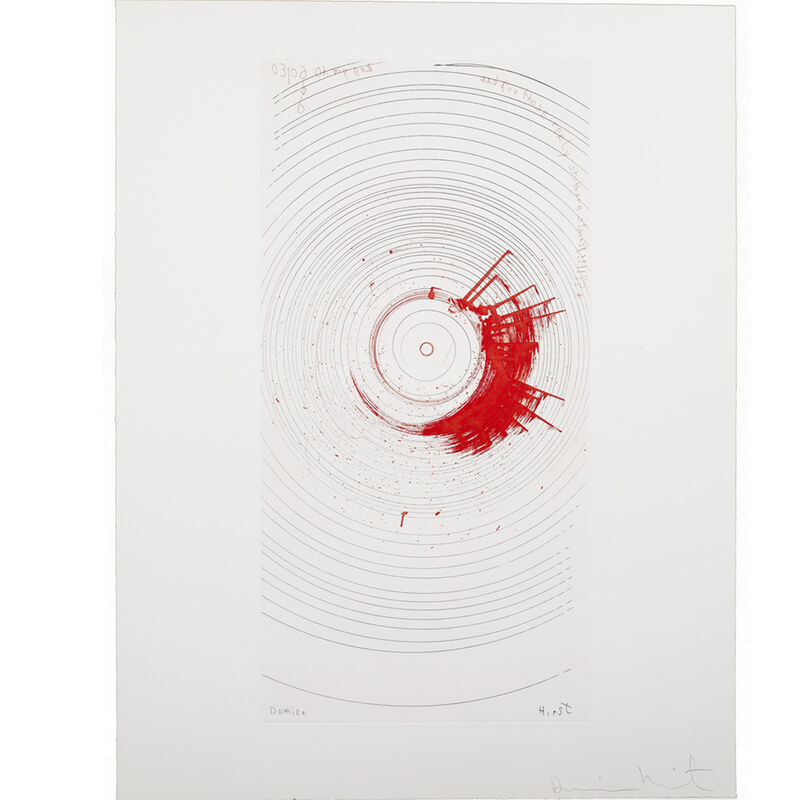 Damien Hirst, 'Oh my God...and for those really stubborn Stains (from In a Spin, the Action of the World on Things, Volume I)', 2002, Print, Etching in color, Weng Contemporary
