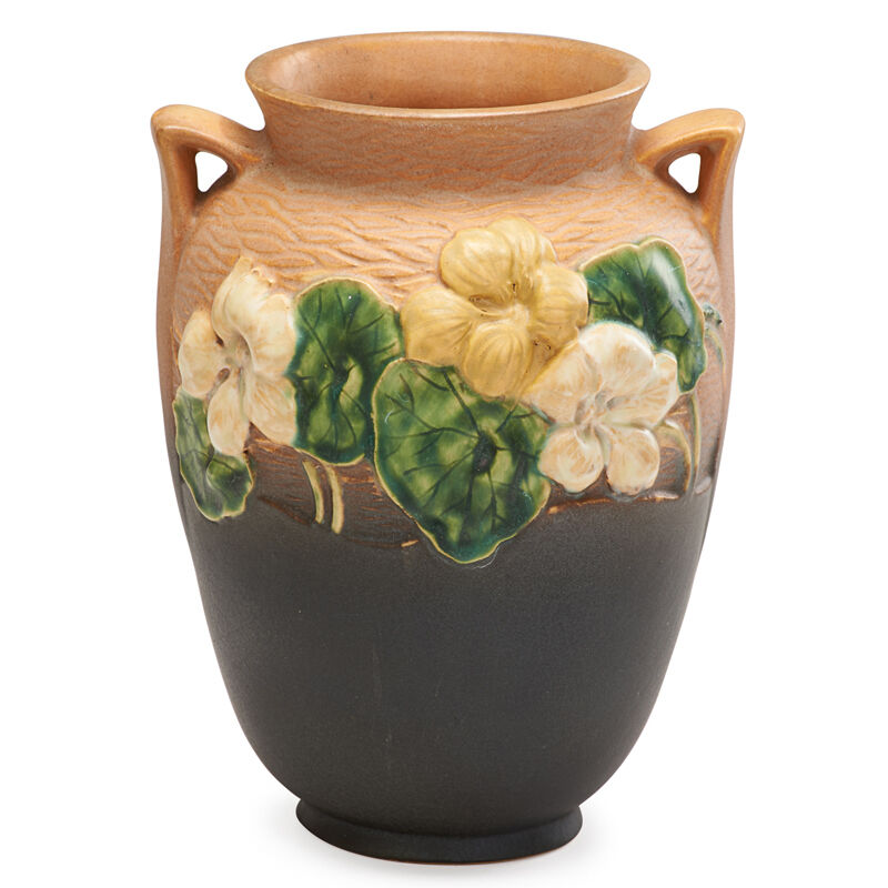 "Roseville Pottery, 'Experimental 8"" Nasturtium Vase, Zanesville, OH', 1930s, Design/Decorative Art, Rago/Wright/LAMA"
