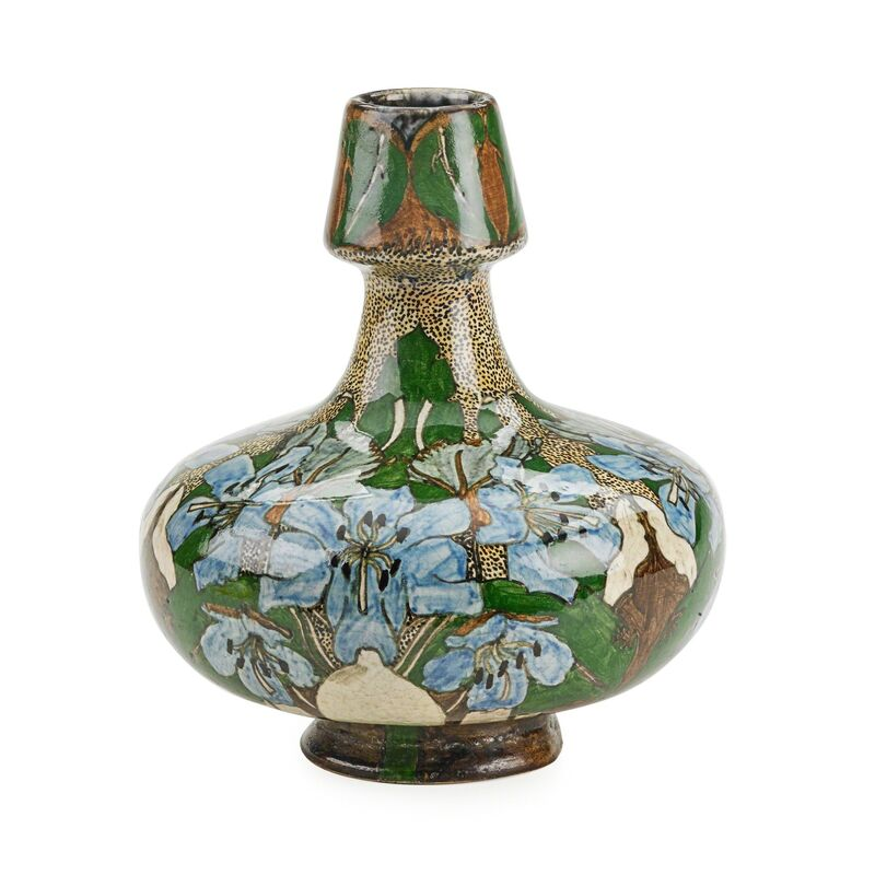 Wed. N.S.A. Brantjes & Co., 'Purmerend Art Nouveau vase with lilies', ca. 1900, Design/Decorative Art, Rago/Wright/LAMA