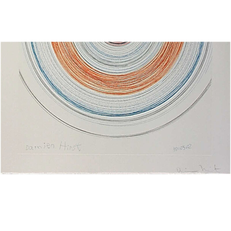 Damien Hirst, 'Twisted in Sobriety (from In a Spin, the Action of the World on Things, Volume II)', 2002, Print, Etching on 350 gsm Hahnemühle paper, Weng Contemporary