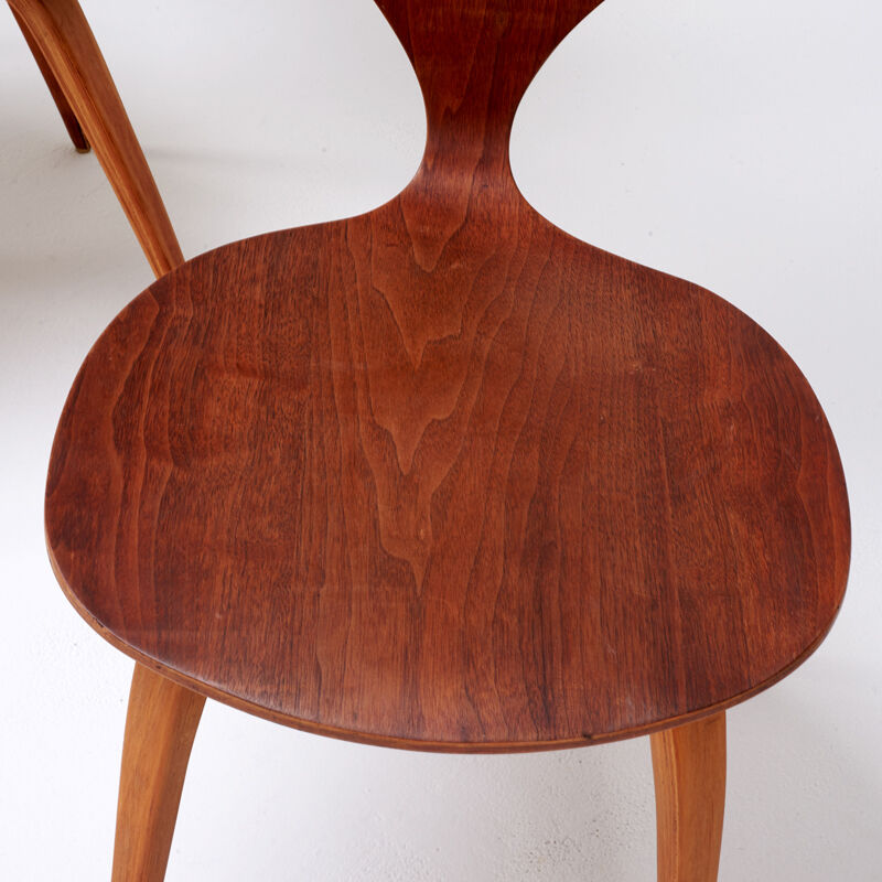 Norman Cherner, 'Set Of Eight Side Chairs, Lawrence, MA', 1960s, Design/Decorative Art, Walnut Plywood, Rago/Wright/LAMA